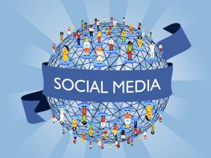 social media globe