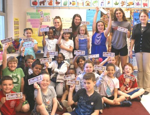"Abington Senior High School Girls' Lacrosse Team  Visits Roslyn Elementary School to  Support ""Stick with READING!"""